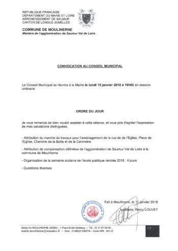 Ordre du jour CM Mouliherne 15 01 2018 - copie