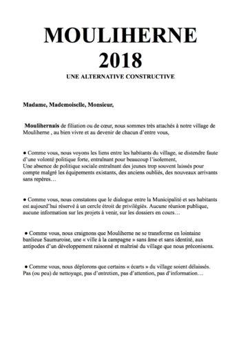PROFESSION DE FOI 2018